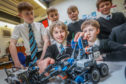 Monifieth High's Young Engineers Group were the top placed Scottish team in the VEX EVENT