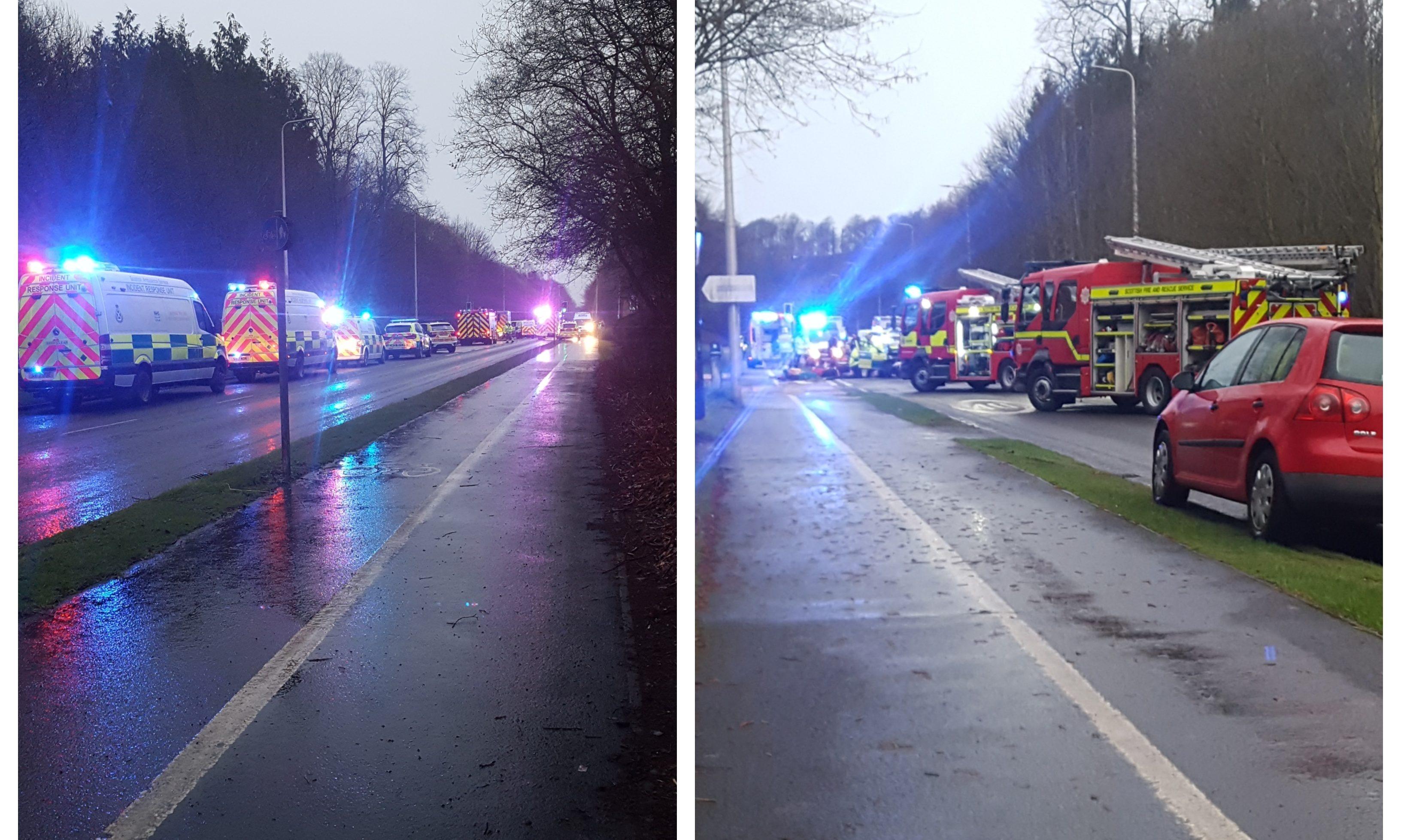 The scene of the crash in Kirkcaldy.