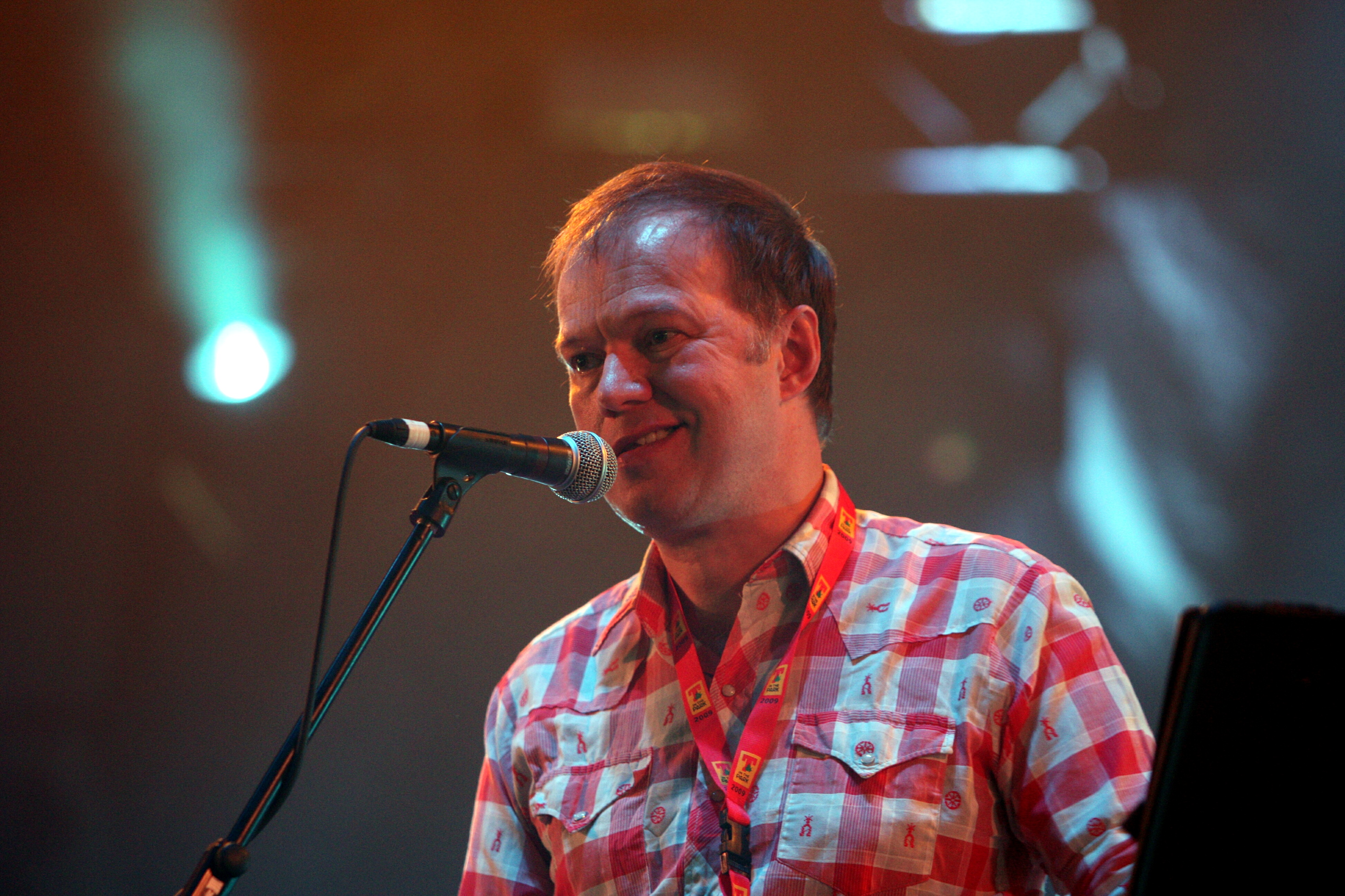 Edwyn Collins performance in King Tut's Wah Wah Tent at T in the Park in 2019.