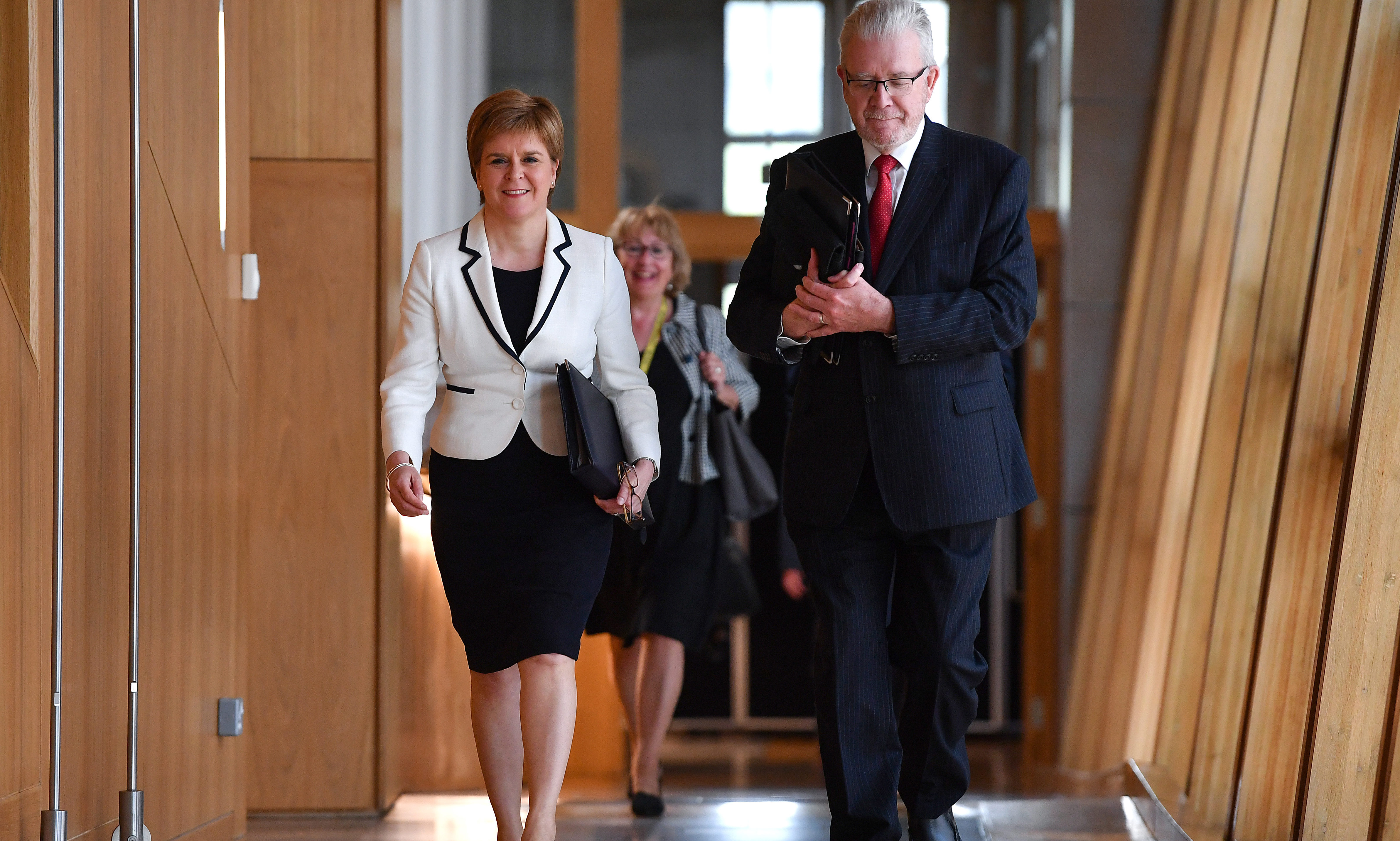 First Minister of Scotland Nicola Sturgeon, arrives at the Scottish Parliament to update MSPs on Brexit and her plans for Scottish independence.