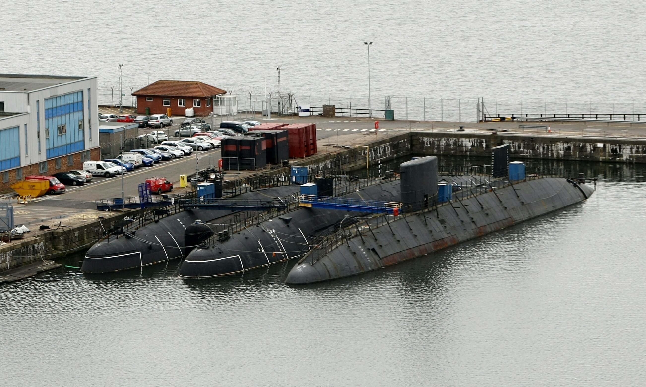 Some of the subs stored at Rosyth