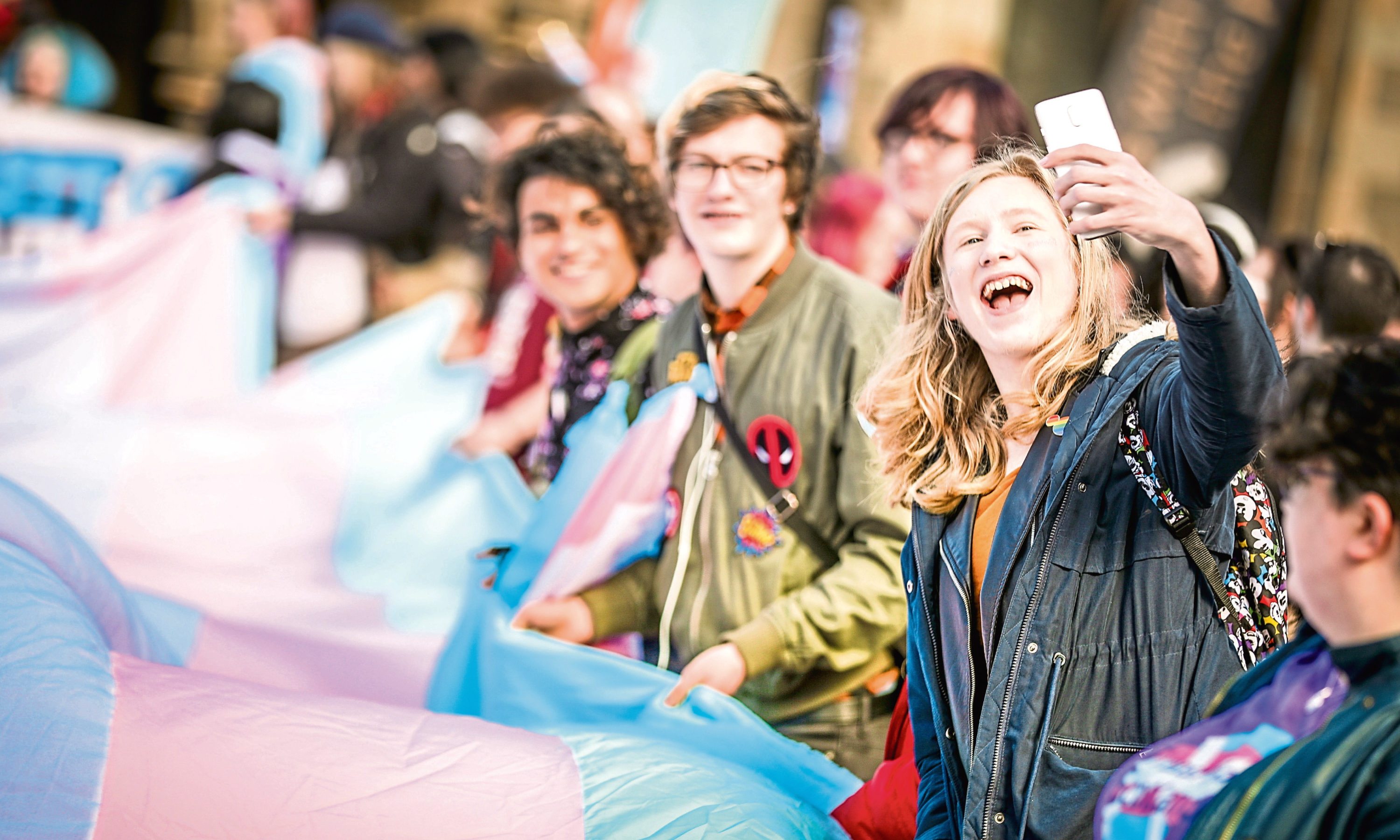 A Trans Pride march was held in Dundee on Saturday.
