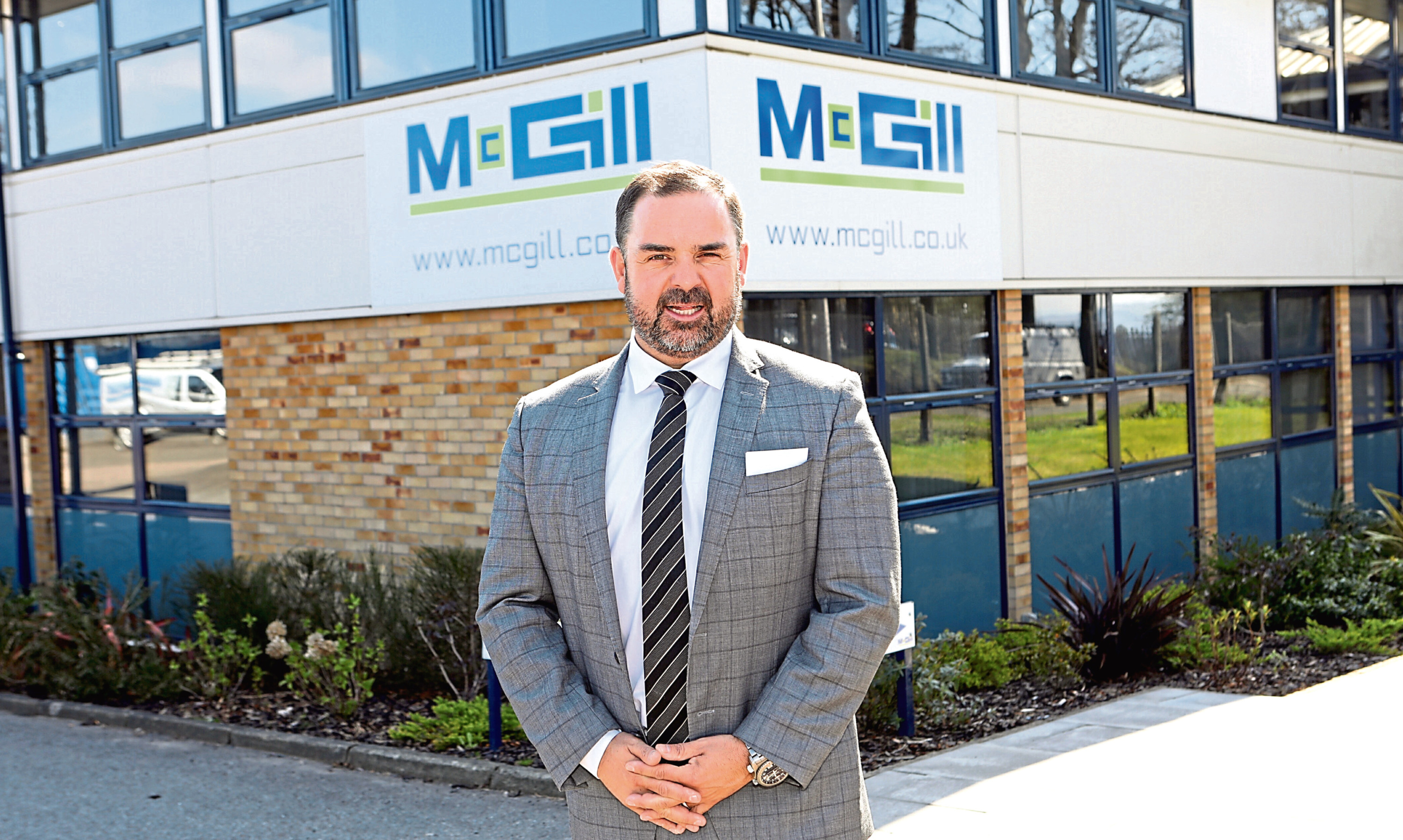 McGill chief executive Graeme Carling at the firms headquarters in Harrison Road, Dundee.