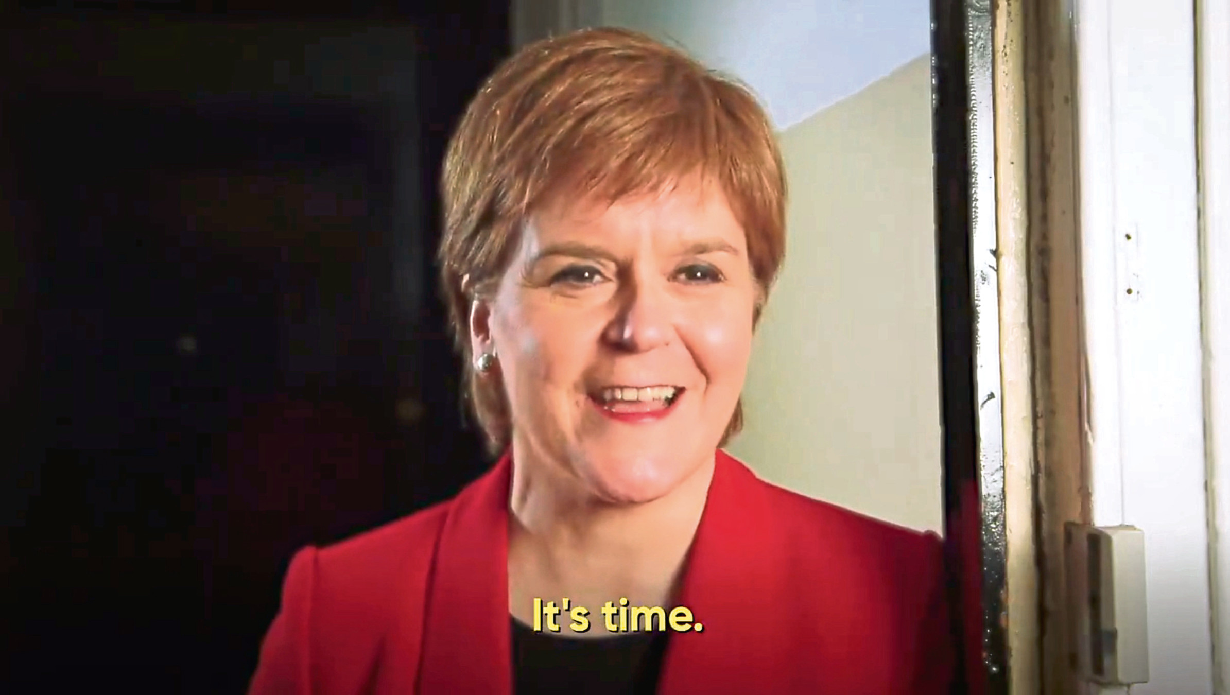 Screenshot from yesscot video featuring First Minister Nicola Sturgeon.
