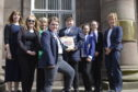 The pupils gave a talk in Forfar ahead of the launch