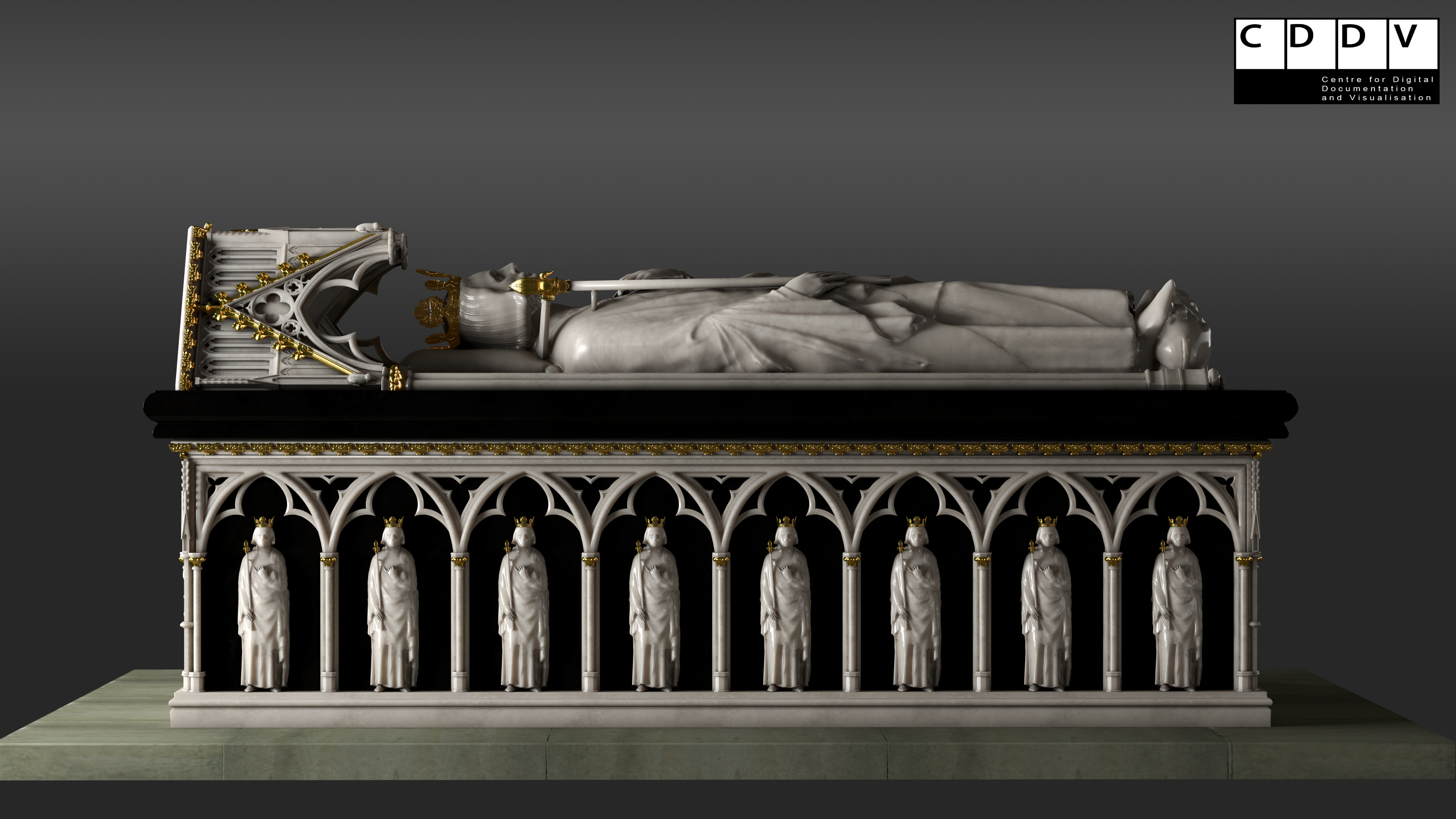 the recreated tomb