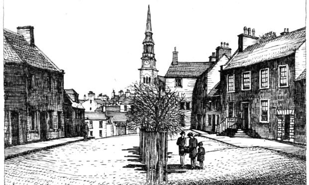 A sketch of Forfar in days gone by.