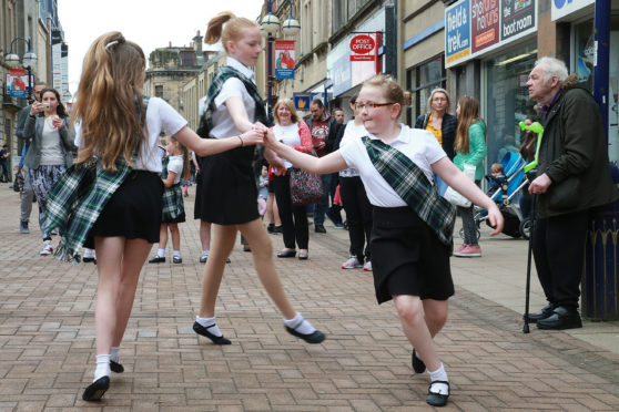 Members of The Royal Scottish country dance society Dunfermline branch entertain shoppers at last year's event.   Picture by Stewart Attwood   All images © Stewart Attwood Photography 2018.  All other rights are reserved. Use in any other context is expressly prohibited without prior permission. No Syndication Permitted.