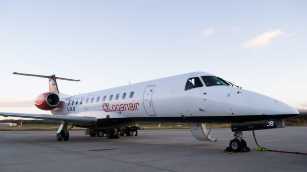 An Embraer 135 which is to be introduced by Loganair