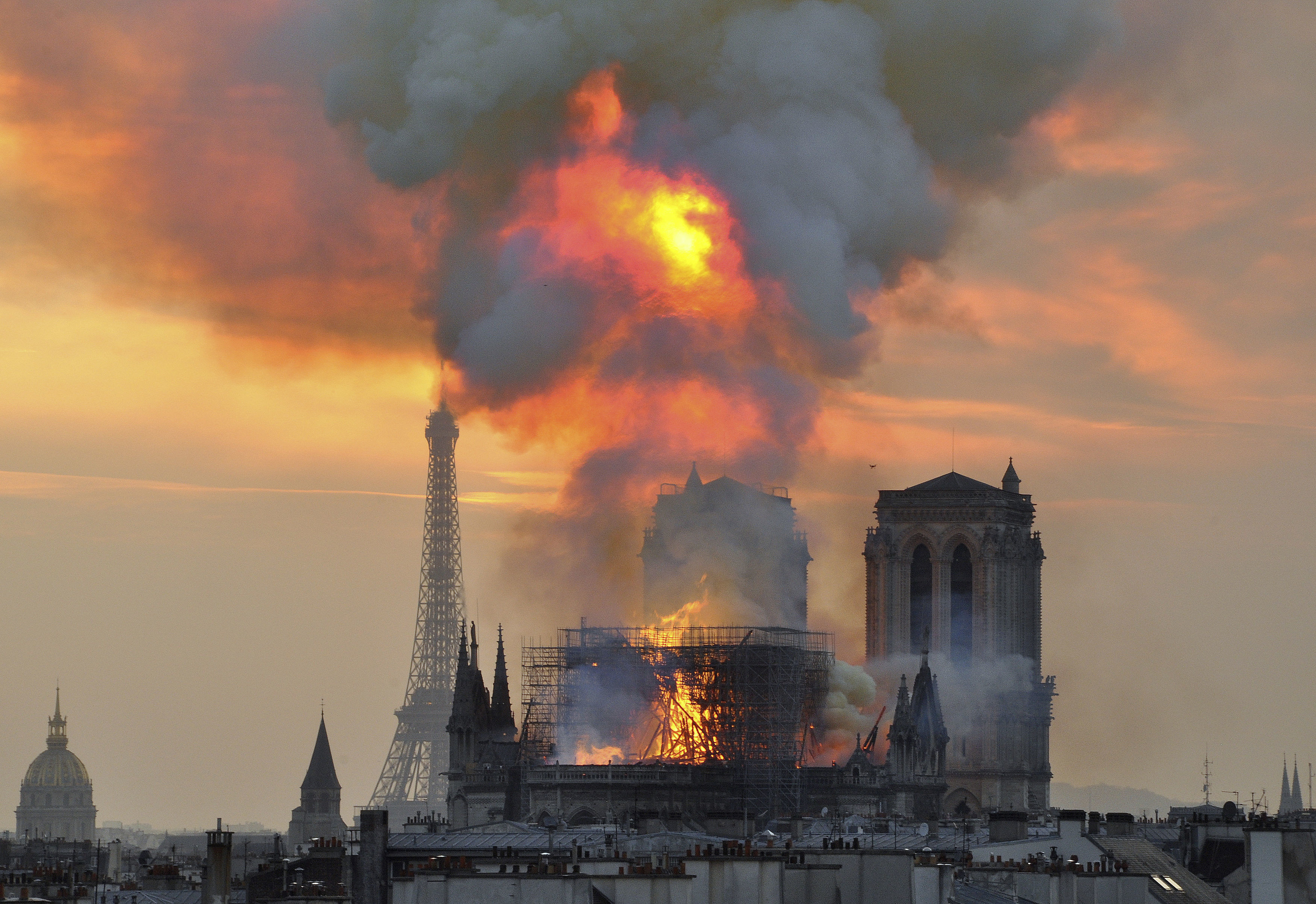 The inferno that raged through Notre Dame Cathedral for more than 12 hours.