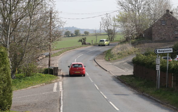 The stretch of road where the accident took place.