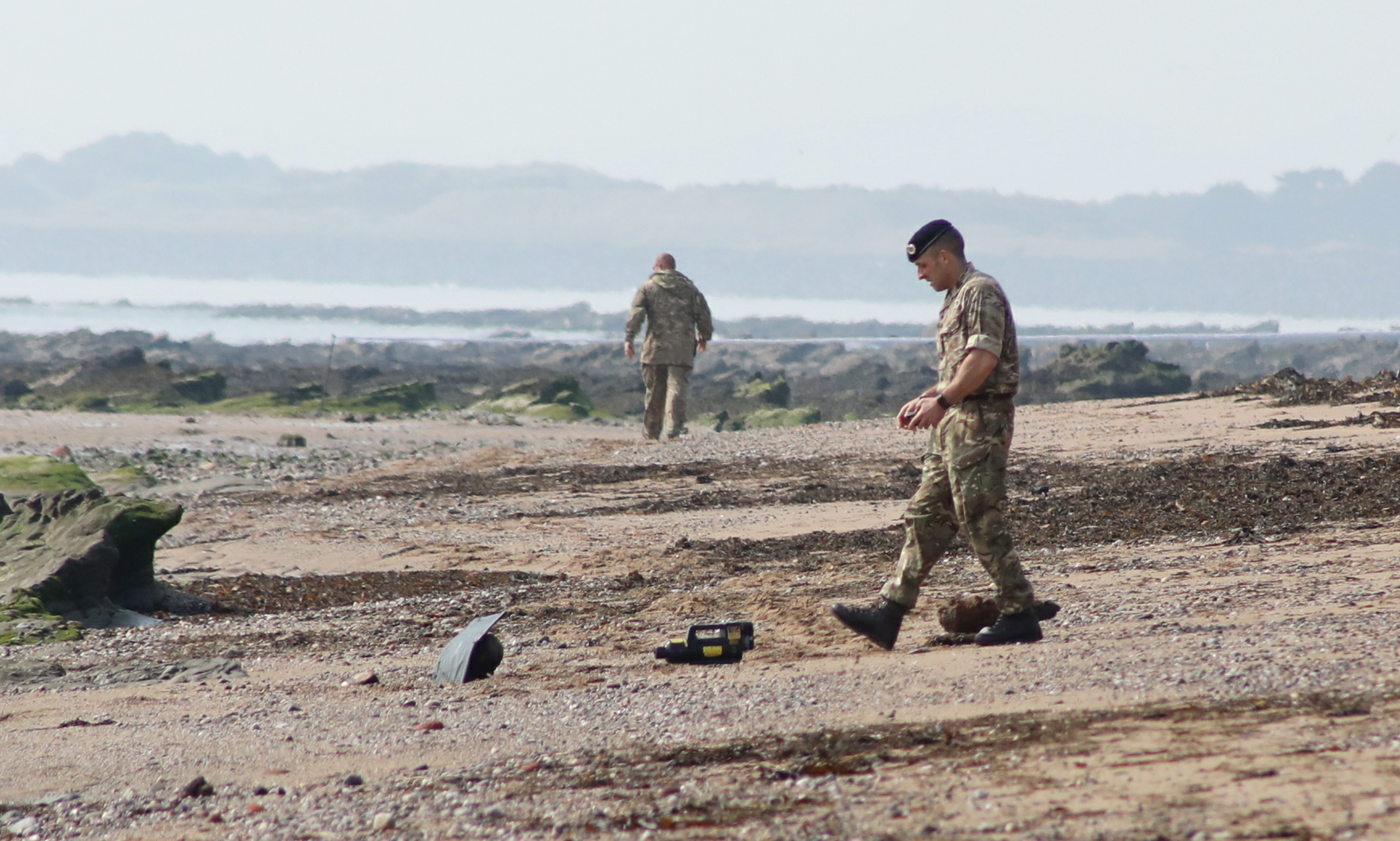 War-time bombs washed up on Easthaven Beach.