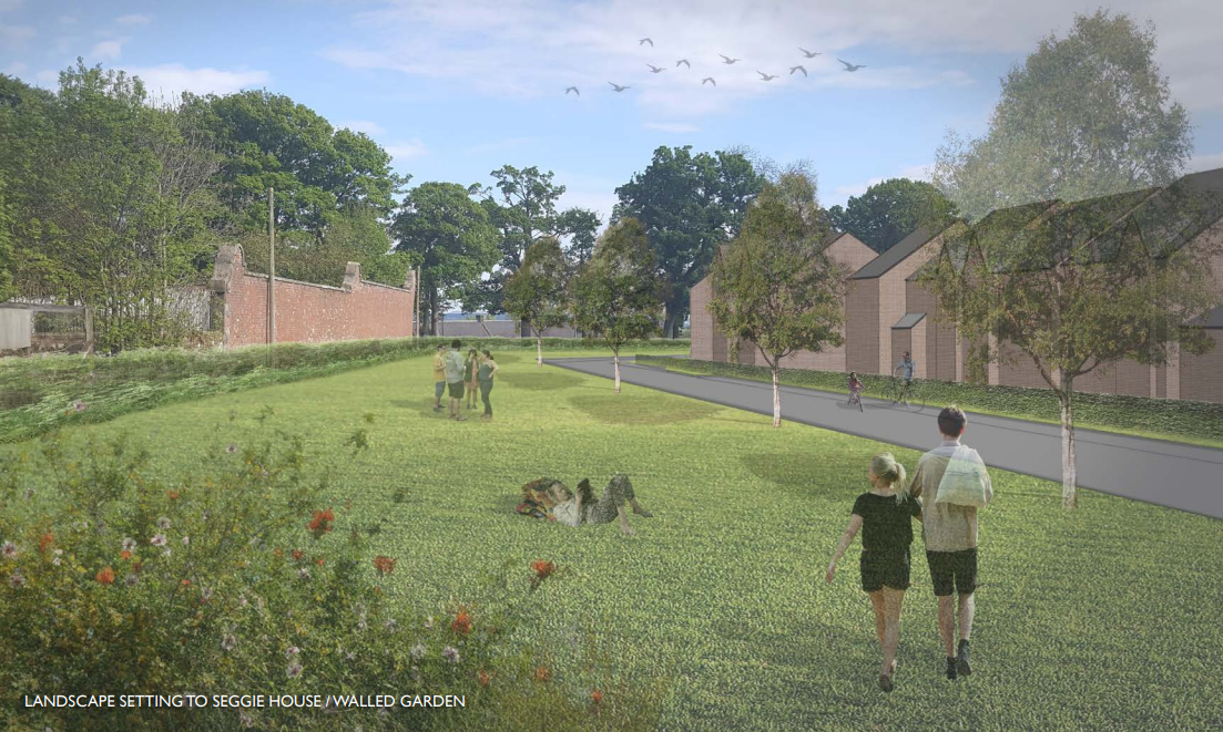 An artist's impression of some of the new homes proposed at Seggie Farm, Guardbridge