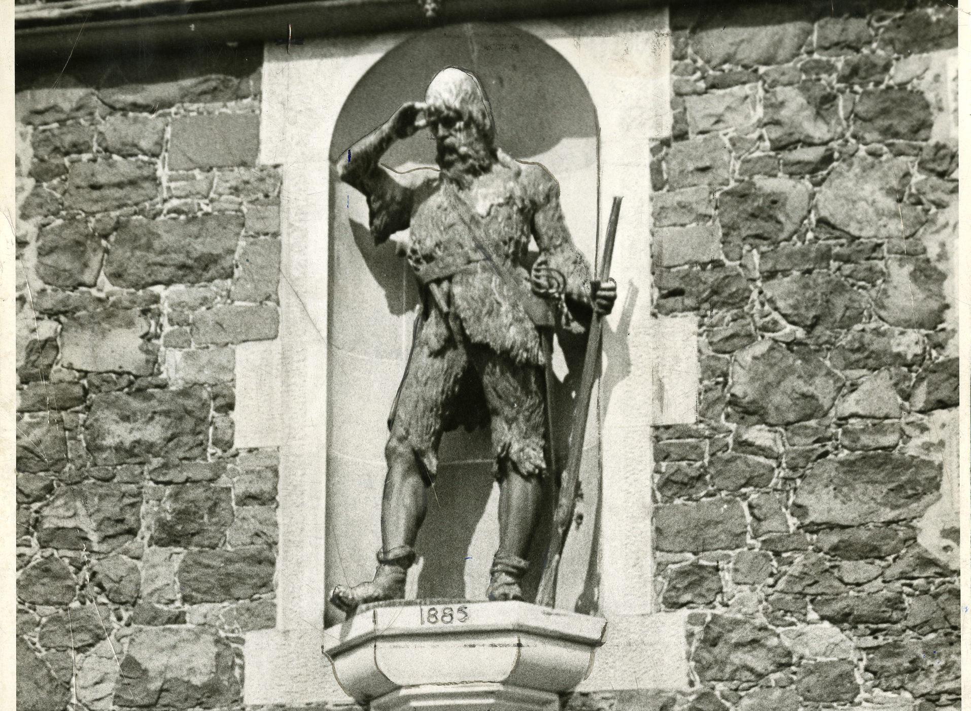 Robinson Crusoe's statue in Lower Largo, Fife.