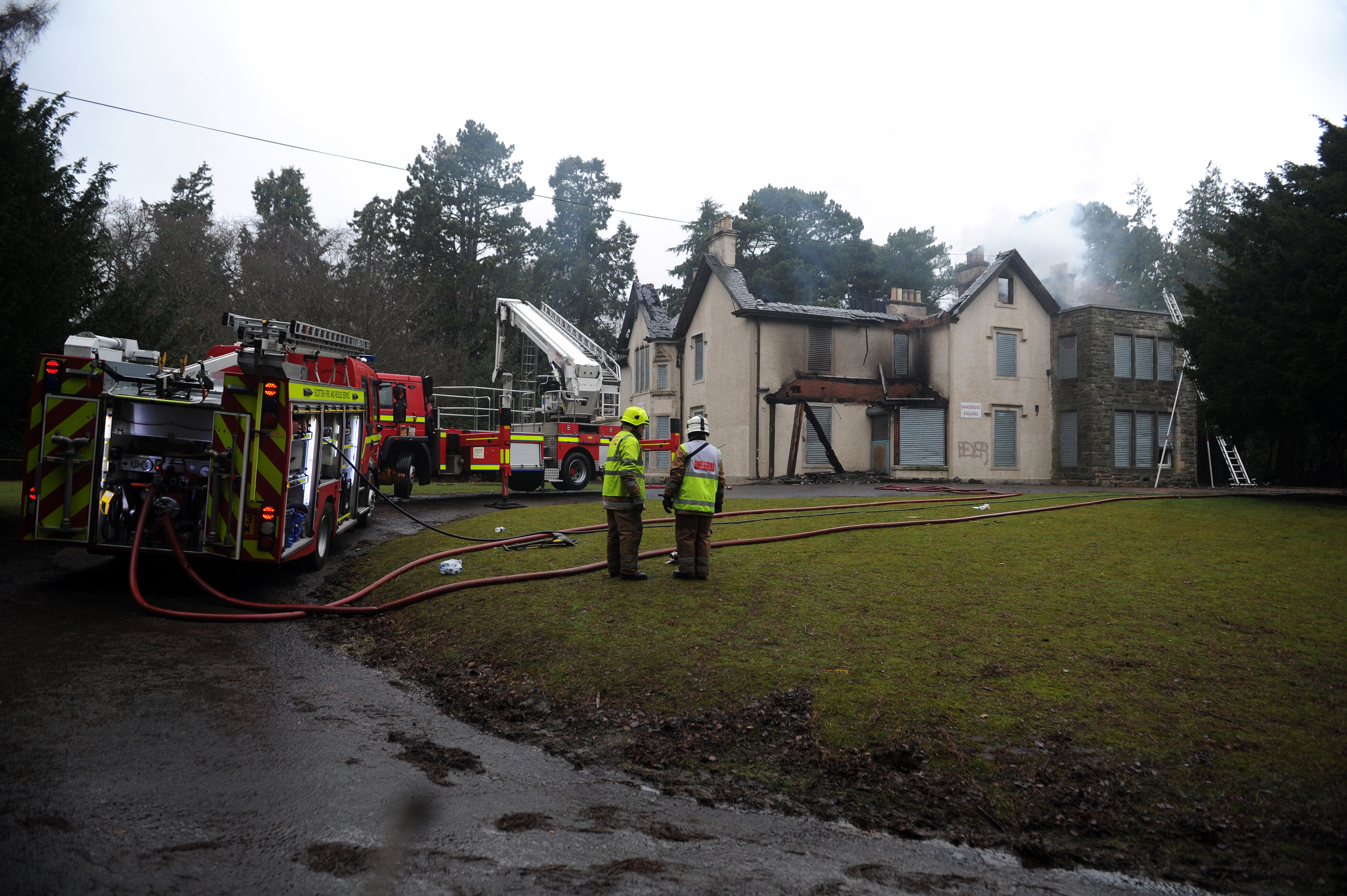 Silverburn House after being gutted by fire in April last year.