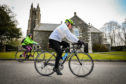 82-year-old John McNally is the oldest entrant in Etape Caledonia. Gayle joined John on a training cycle in Fife.