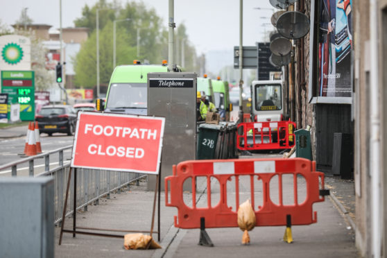 SSE dug up pavements at the junction to find and repair the fault.