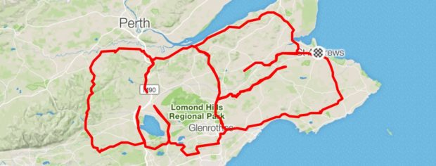 The Big MS Ride will follow a route round Fife in the shape of the letters MS