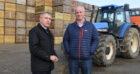 Mr Goodwill (L) met arable farmer Richard Stephen in Aberdeenshire.
