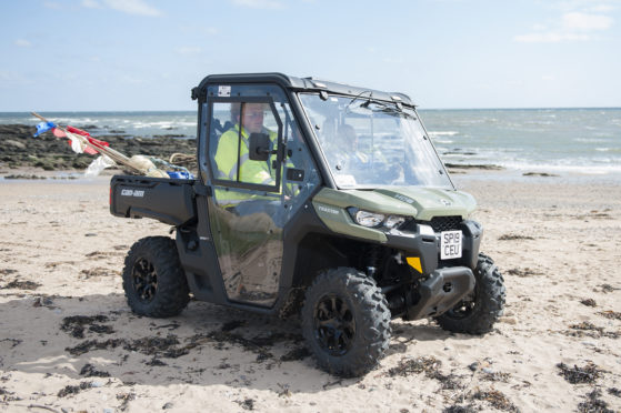 The Can-Am-Traxter on East Haven beach.