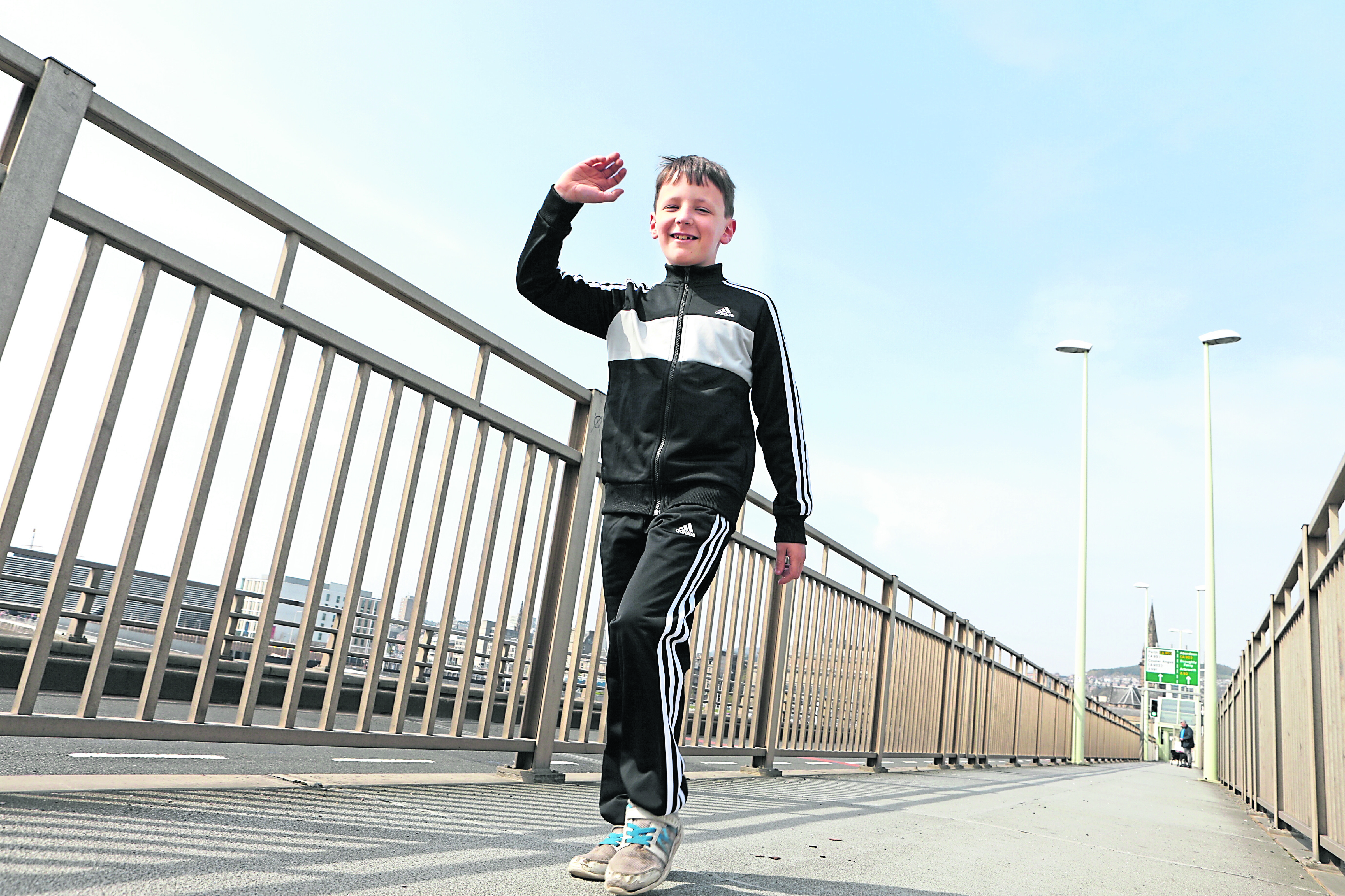 Charlie Watts from Auchterhouse is walking 30 miles from Carnoustie to St Andrews Aquarium.
