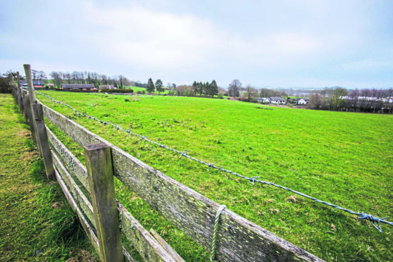The vacant land earmarked for 58 homes in Rattray.