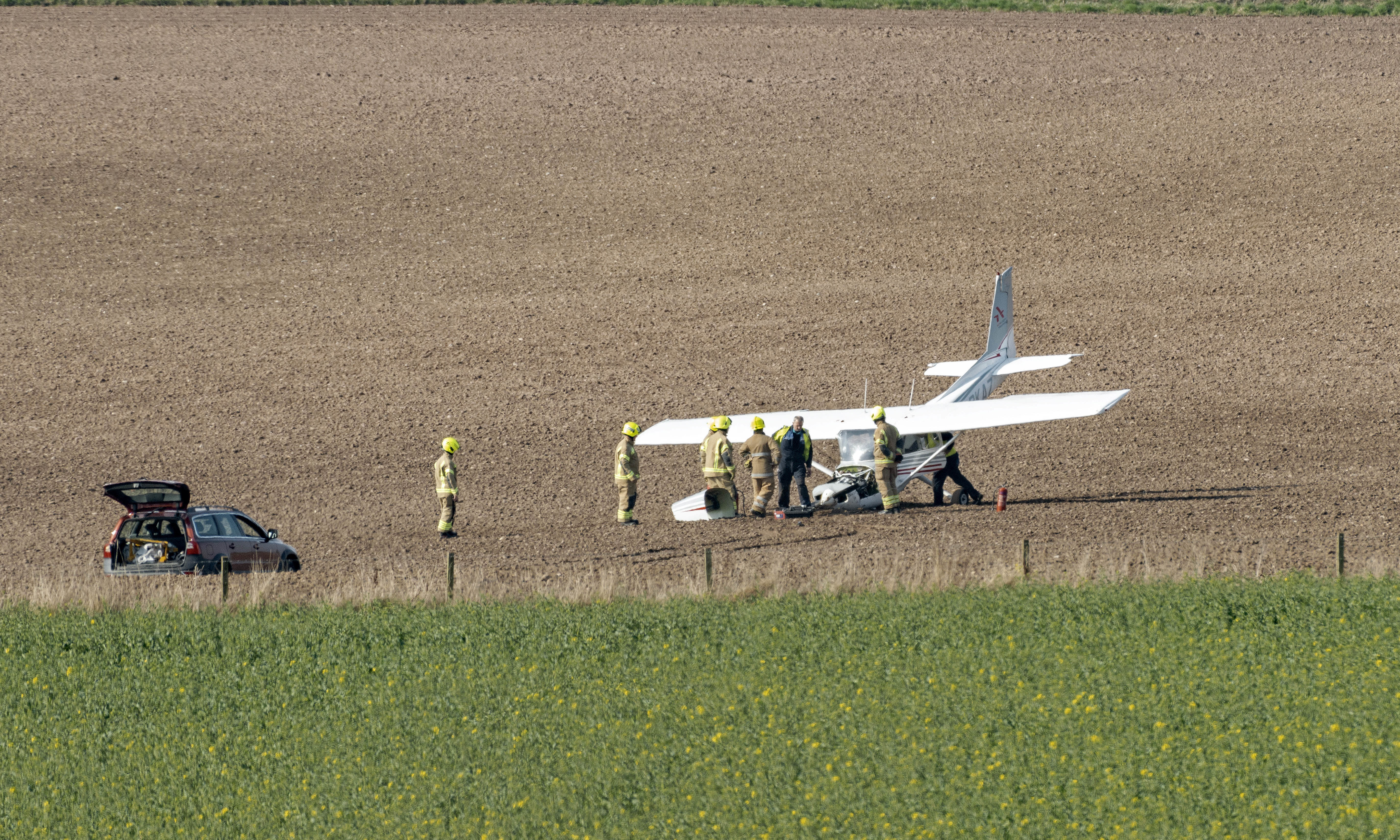 The plane at Kettings, near Coupar Angus