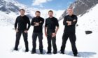 The stars of SAS: Who Dares Wins. Mark Billingham is pictured on the far right. (Others, L-R,: Foxy, Ant, and Ollie).