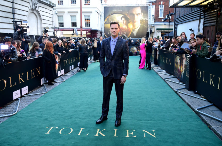 Nicholas Hoult attending the UK premiere of Tolkien held at Curzon Mayfair, London.