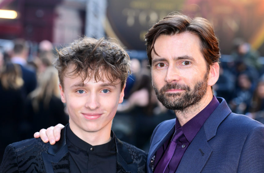 Ty Tennant (left) and David Tennant attending the UK premiere of Tolkien held at Curzon Mayfair, London.
