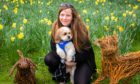 Katie McCandless-Thomas with her  dog Baxter