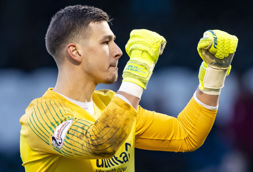 Benjamin Siegrist is gutted Dundee United's squad hasn't been able to celebrate title triumph