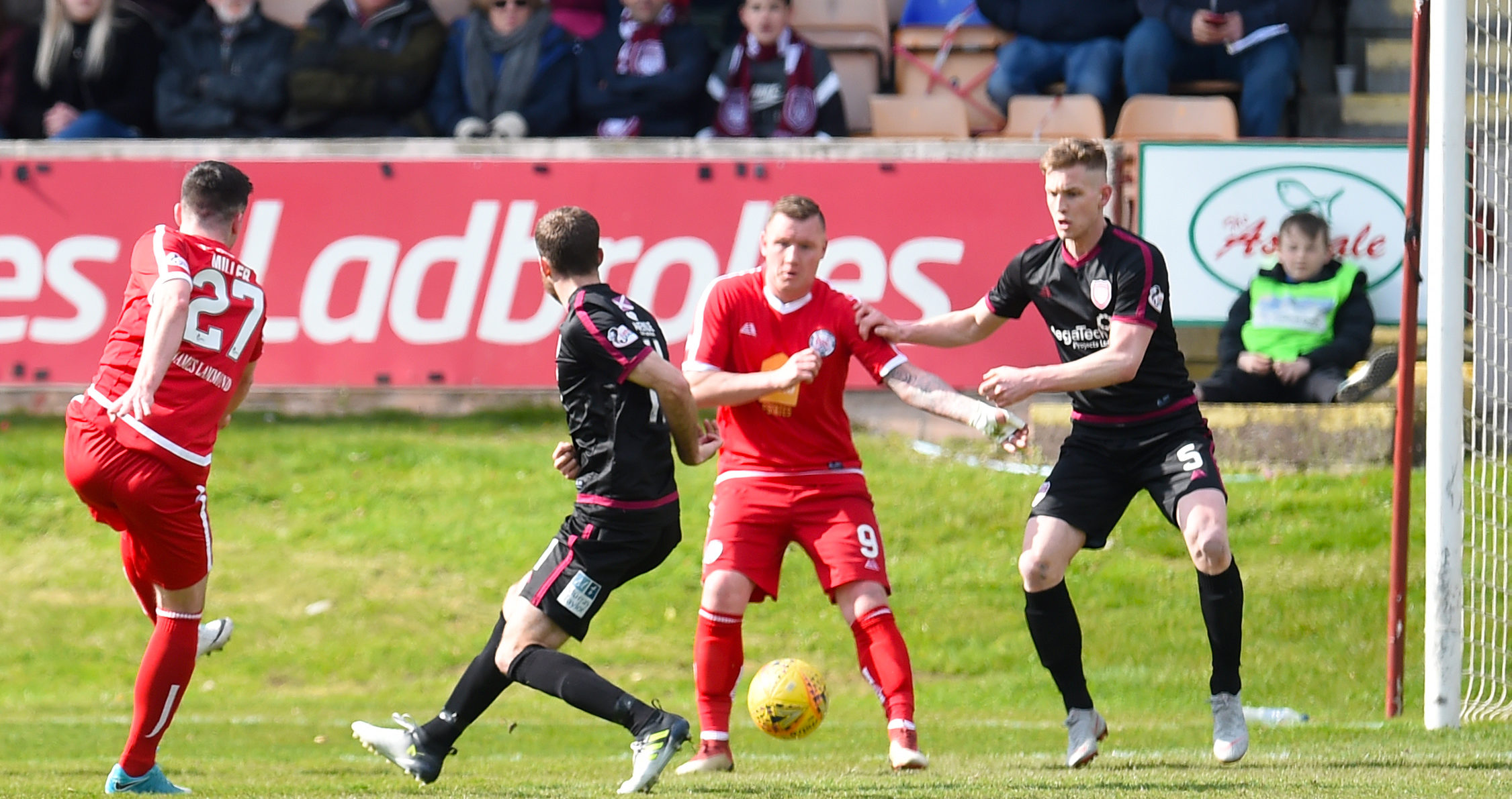 Action from Brechin;s game against Arbroath last week.