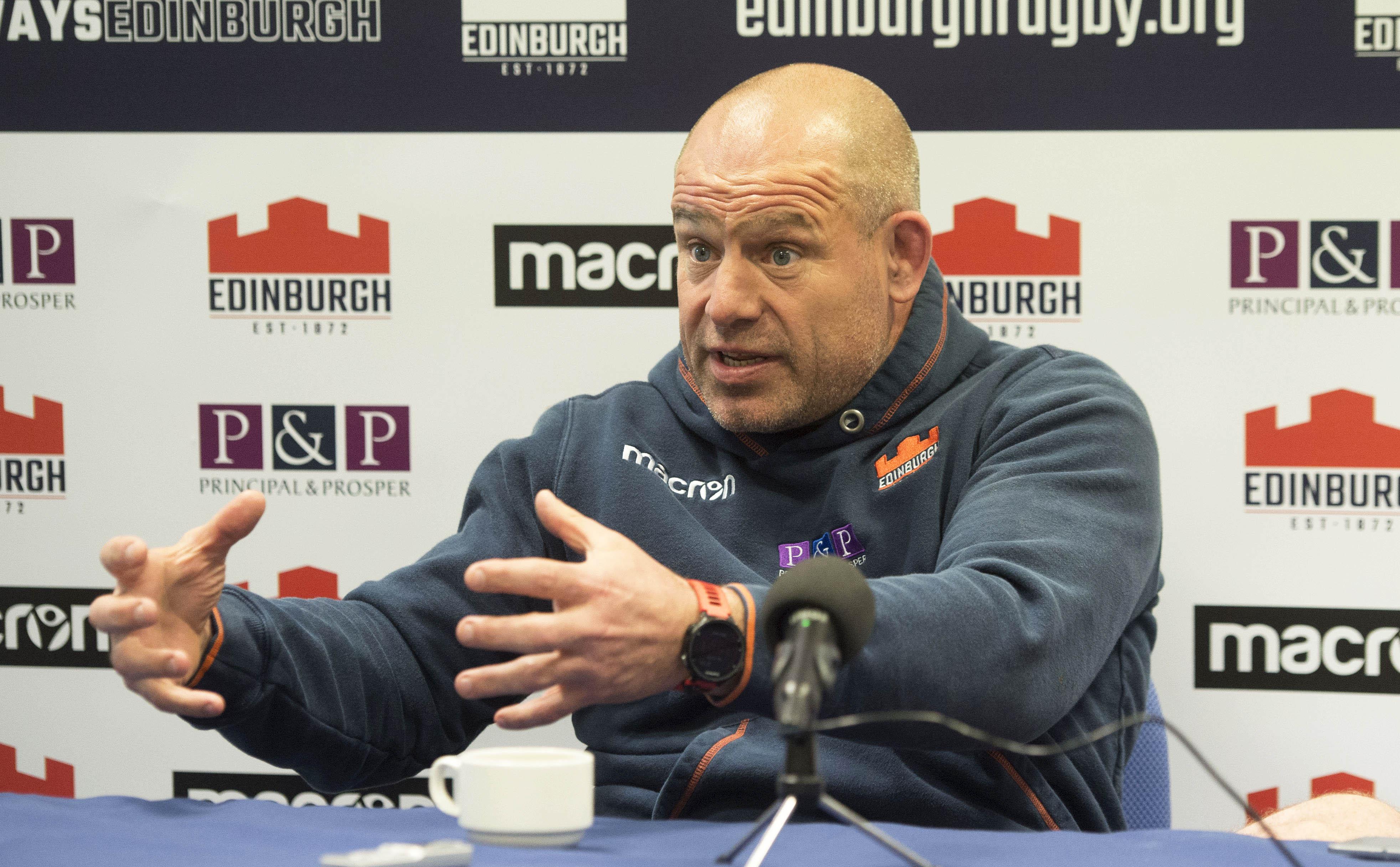 Edinburgh Rugby Head Coach Richard Cockerill.
