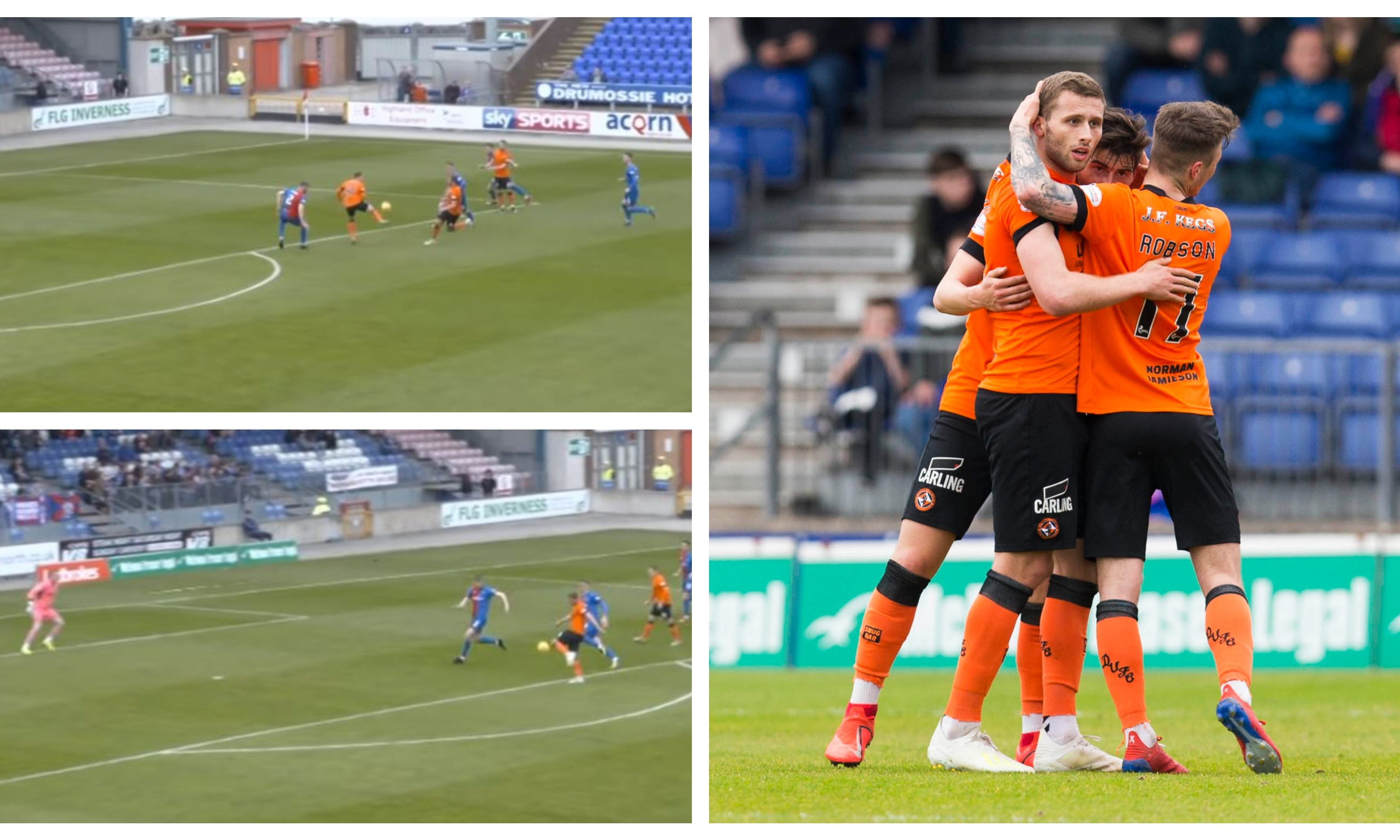 Pavol Šafranko scores the opener for Dundee United against Inverness.