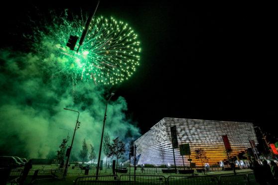 Fireworks above the V&A.