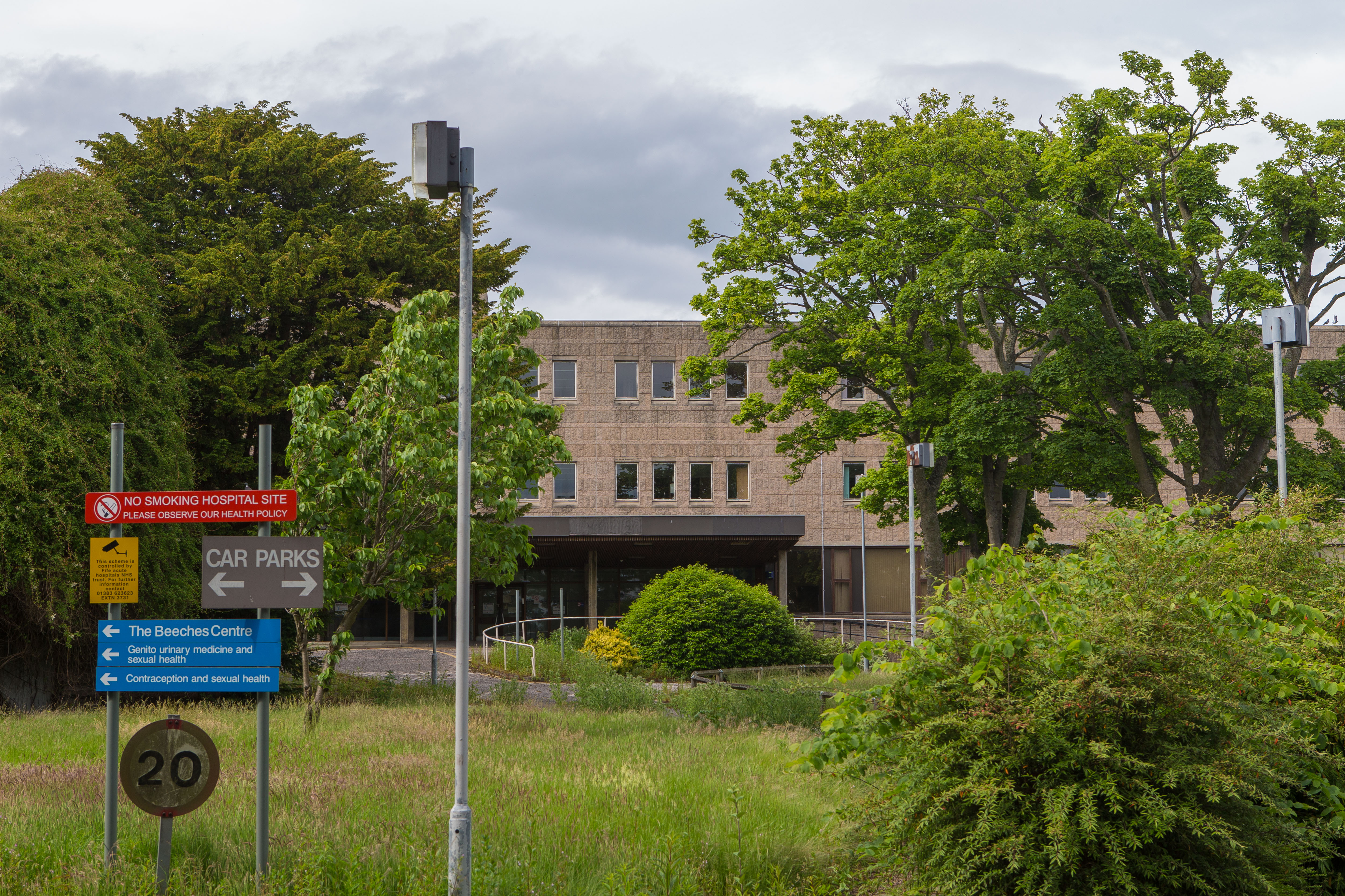 The former Forth Park maternity hospital site in Kirkcaldy.