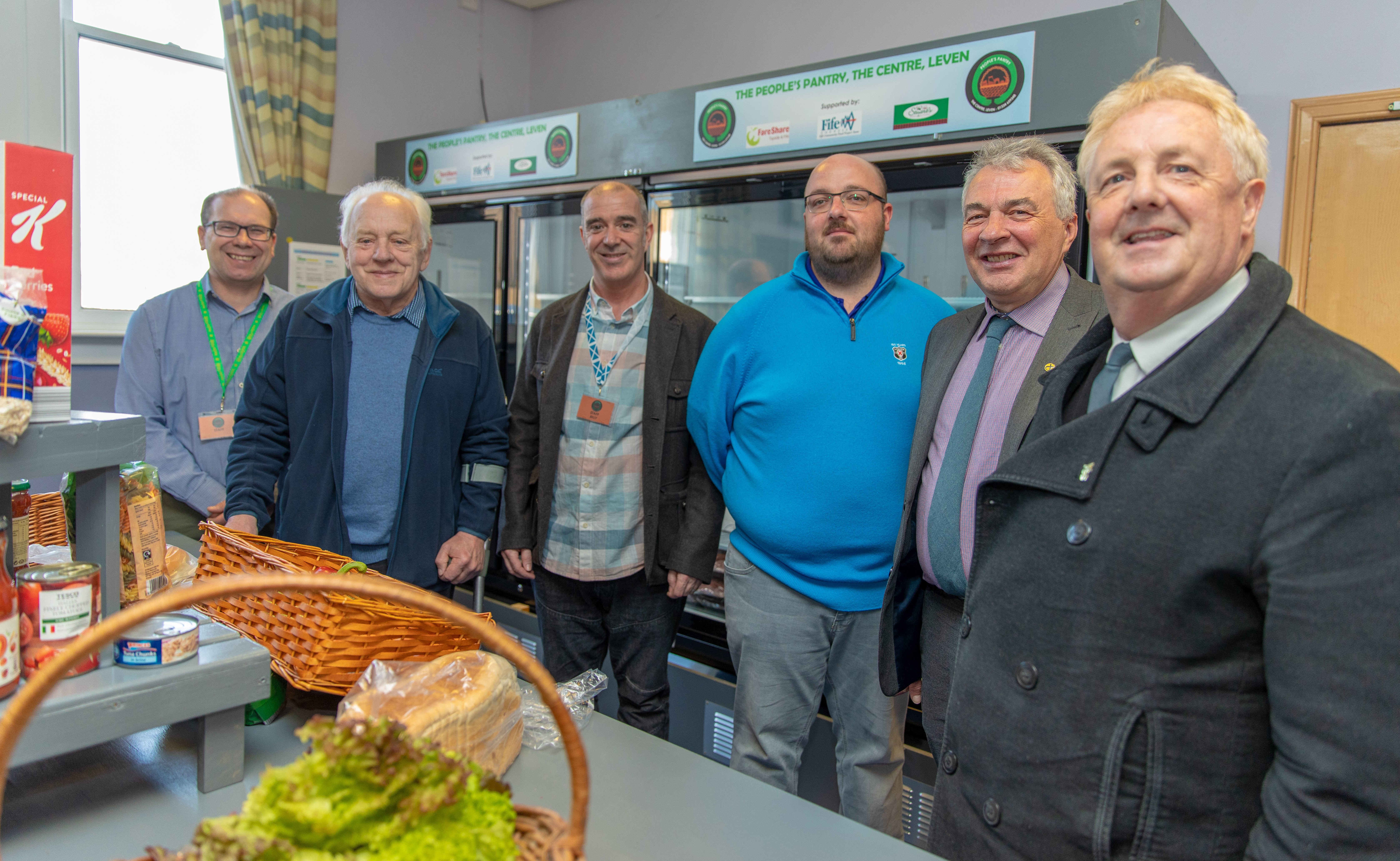 Councillor Ken Caldwell second left) and Councillor John OBrien at the launch with volunteers