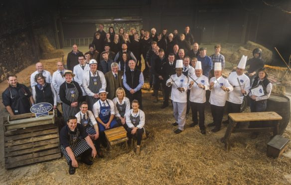 The cast of the Scotch Beef Know Your Beef TV advert.