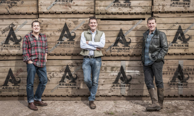 Iain, John and David Stirling of Arbikie Distillery