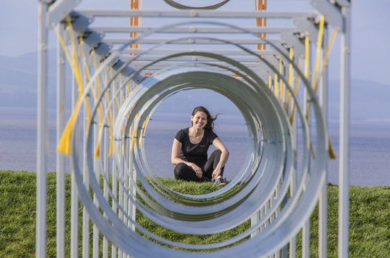 Dundee University student Nadine Audrey Franz with the installation