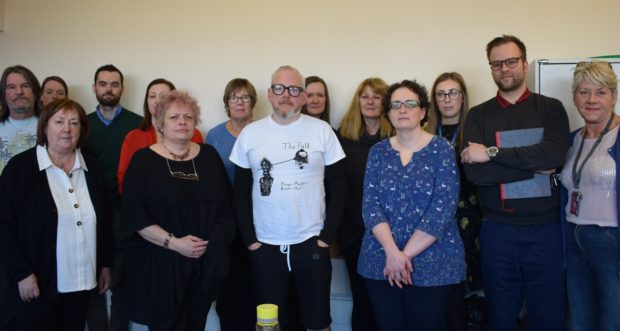 some of the frontline groups attending the Kirkcaldy meeting organised by Mrs Laird to discuss Universal Credit