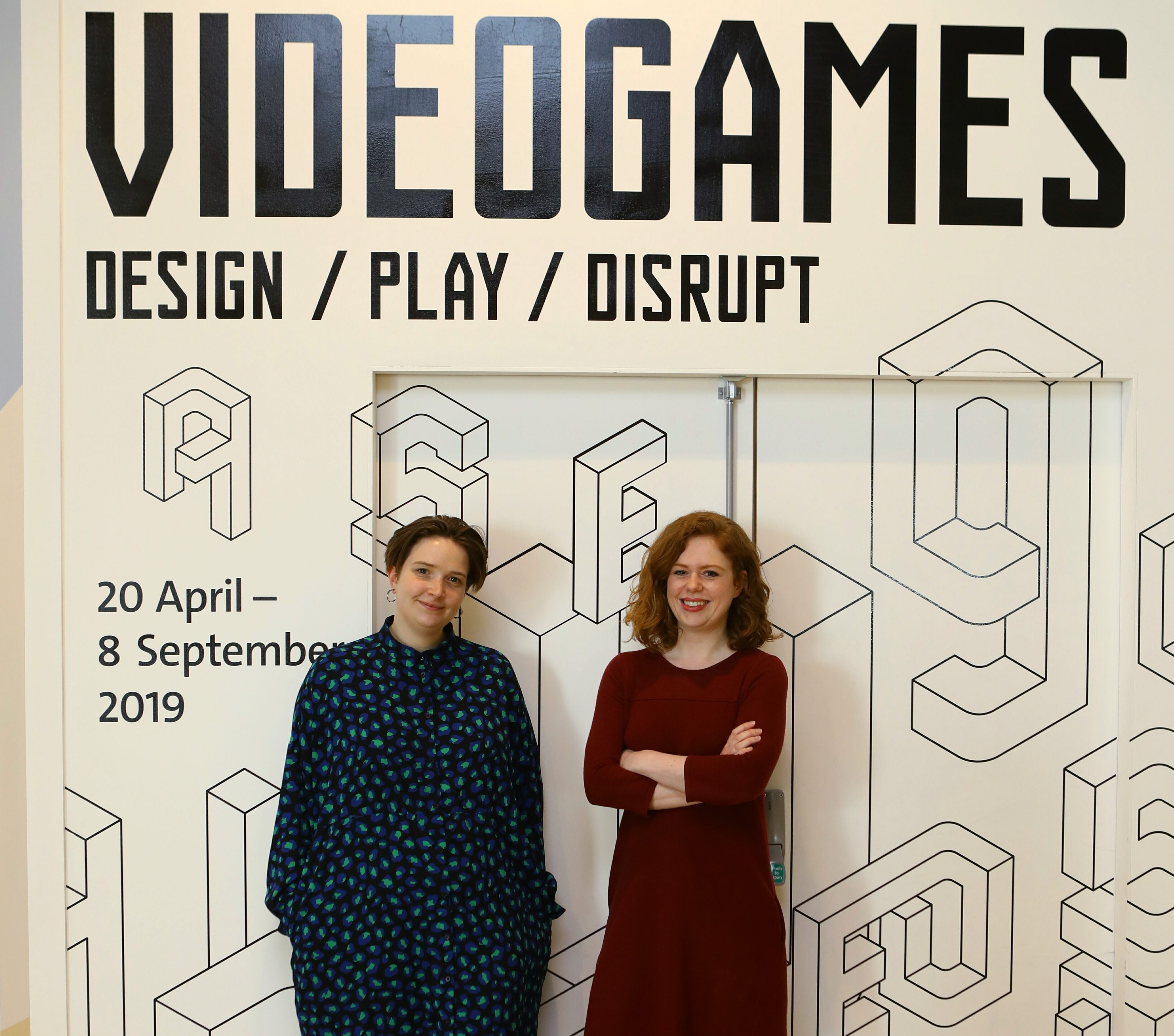Lauren Bassam, left, and Meredith More, curators for the forthcoming exhibition Videogames, at the V&A Dundee