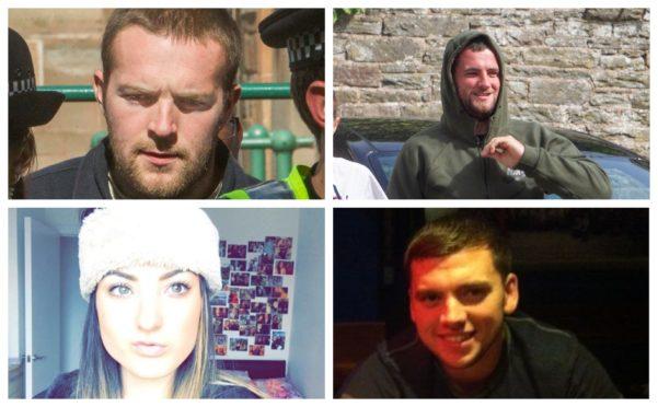 Callum Davidson (top left), Steven Dickie (top right), Tasmin Glass (bottom left) and Steven Donaldson (bottom right).
