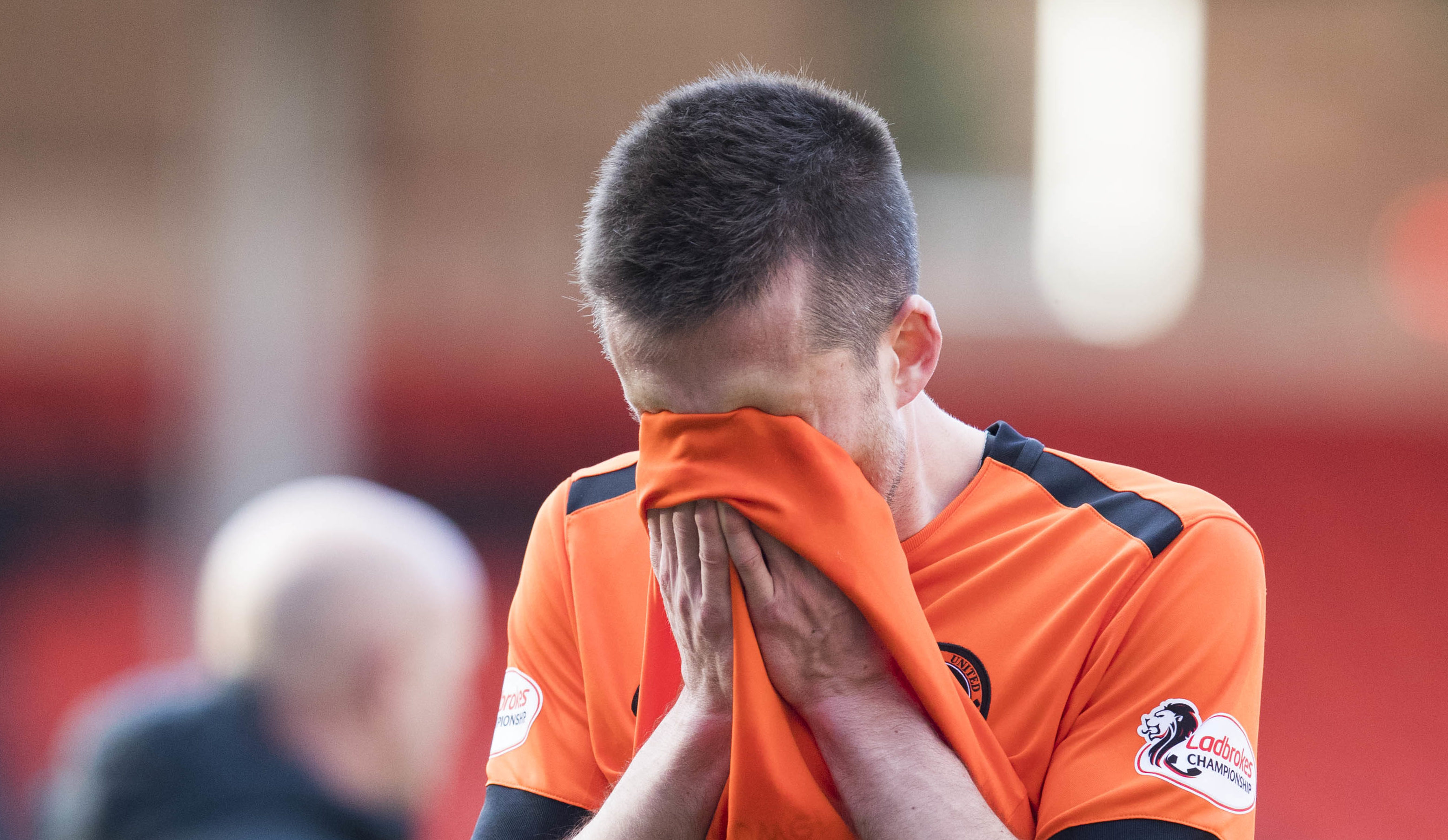 A dejected Callum Booth after his penalty miss.