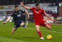 Cammy Kerr playing against Aberdeen.
