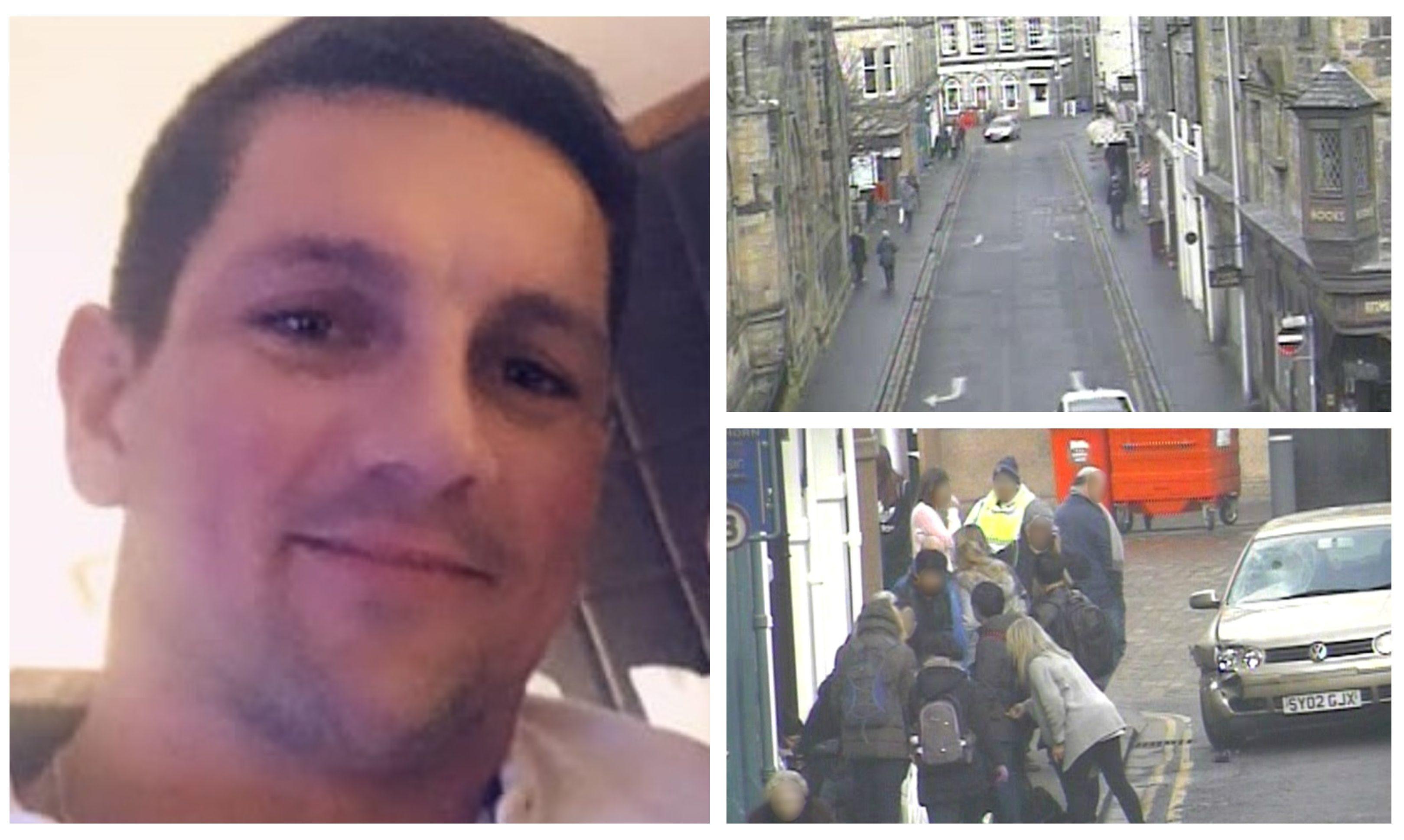 Edward Kolakovic drove into the group on St Andrews' Market Street.