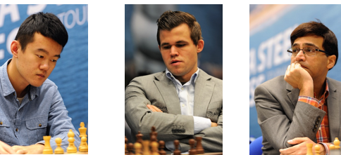 Liren, Carlsen and Anand