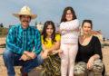 Dad Leopoldo (59), mum Clara Curteis (36), Roxana Urrutia Curteis (12) and Luna Urrutia Curteis (7) on East Sands, St Andrews