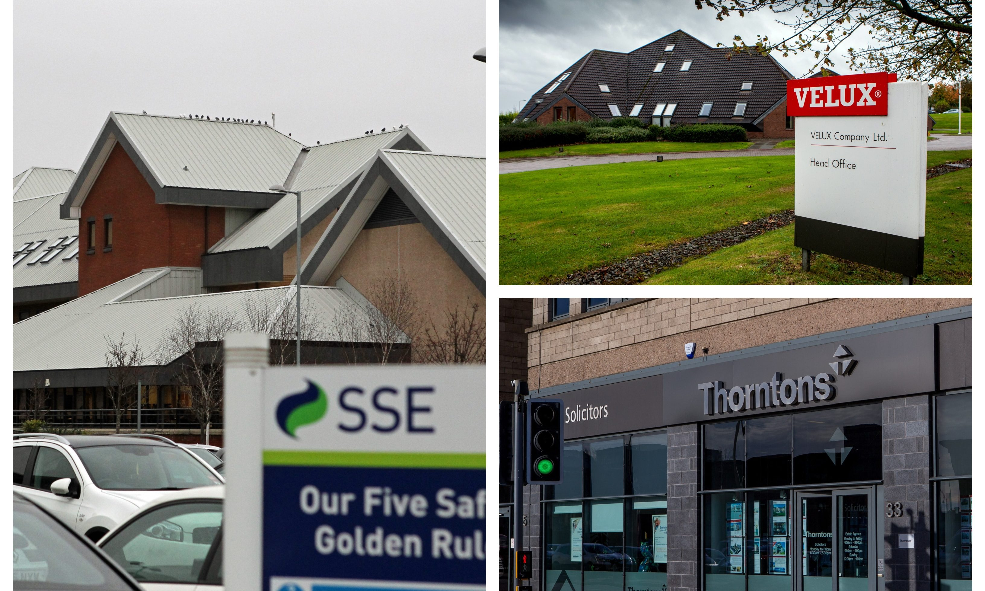 SSE, Velux and Thorntons.